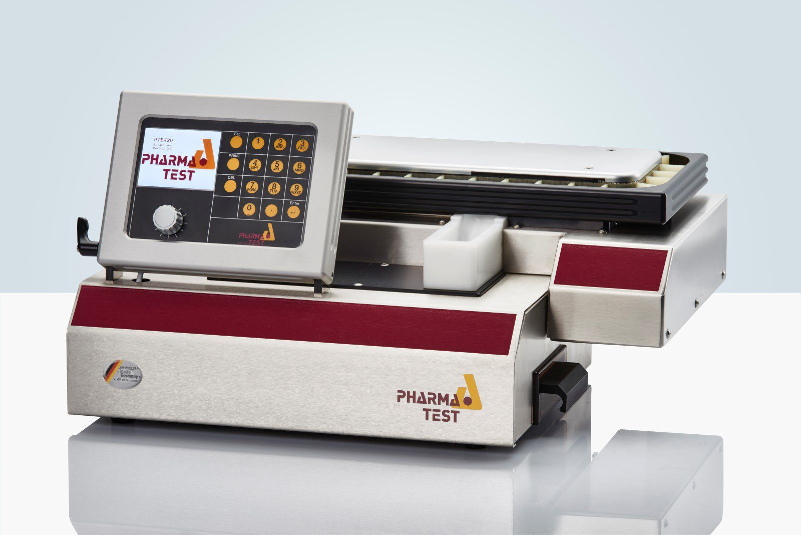 """PTB 420 Auto"" 4-in-1 Hardness Tester with Integrated Balance and Feeder – from ""Galenic Instruments"""