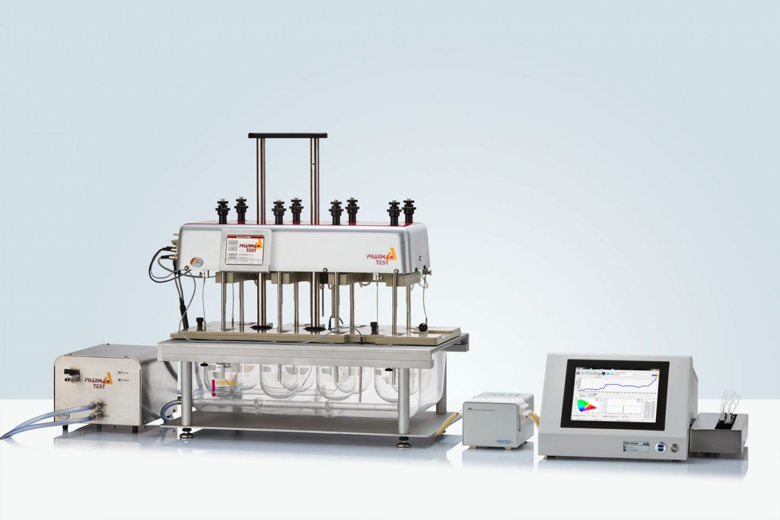 Automated Dissolution System with the PTWS 820D, IPC pump and TIDAS L