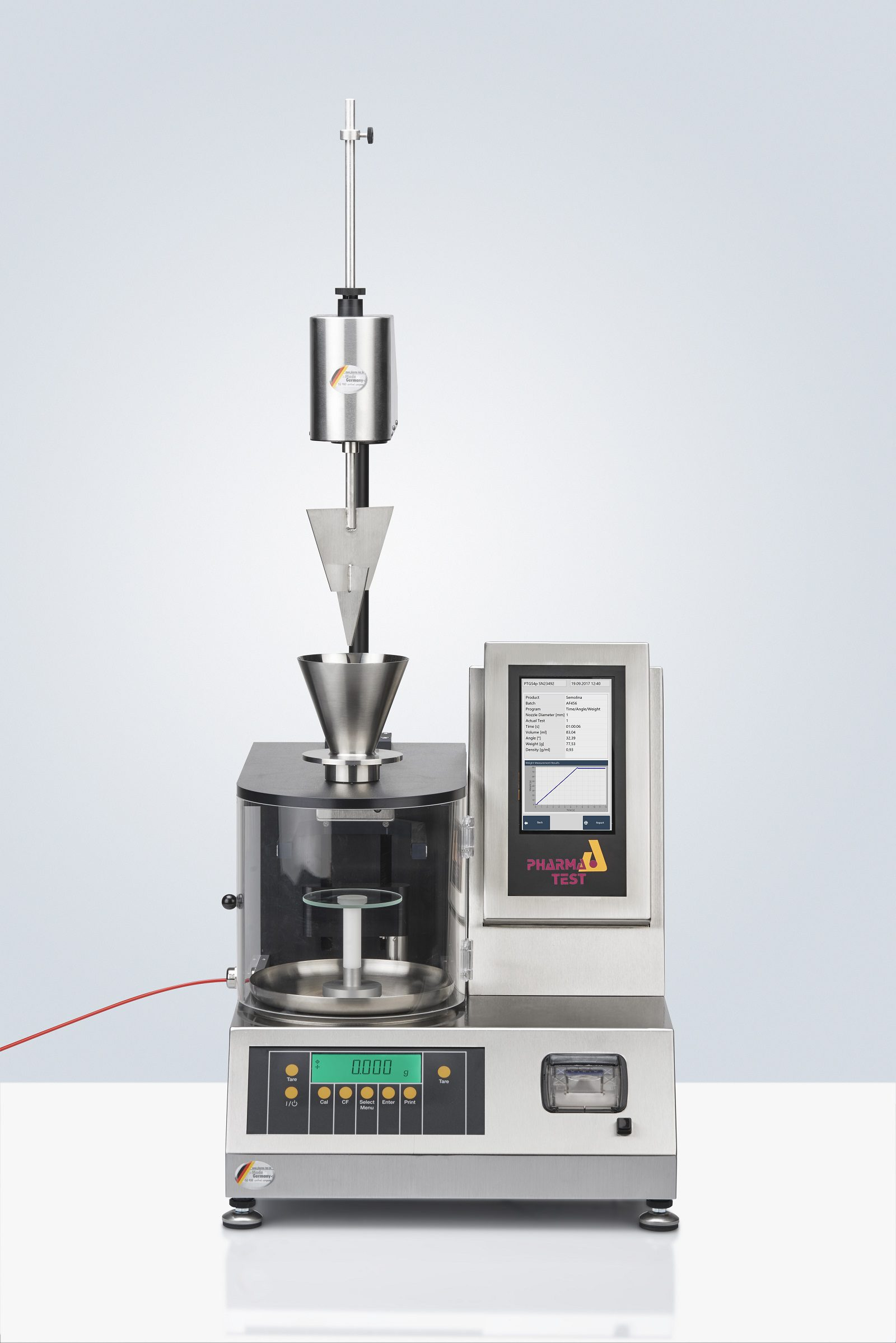PTG S5 Automated Powder Flow Measurement