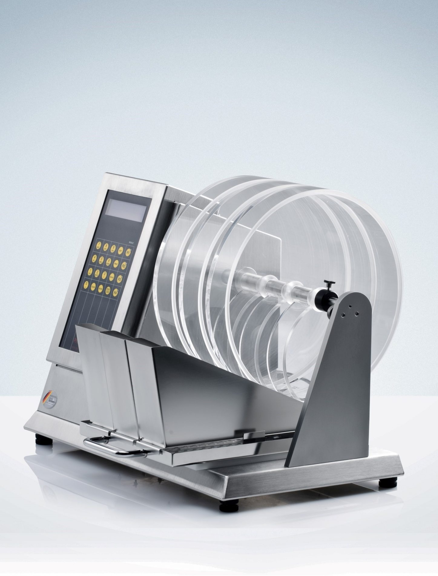 PTF 3DR a triple drum semi-automated friabilator