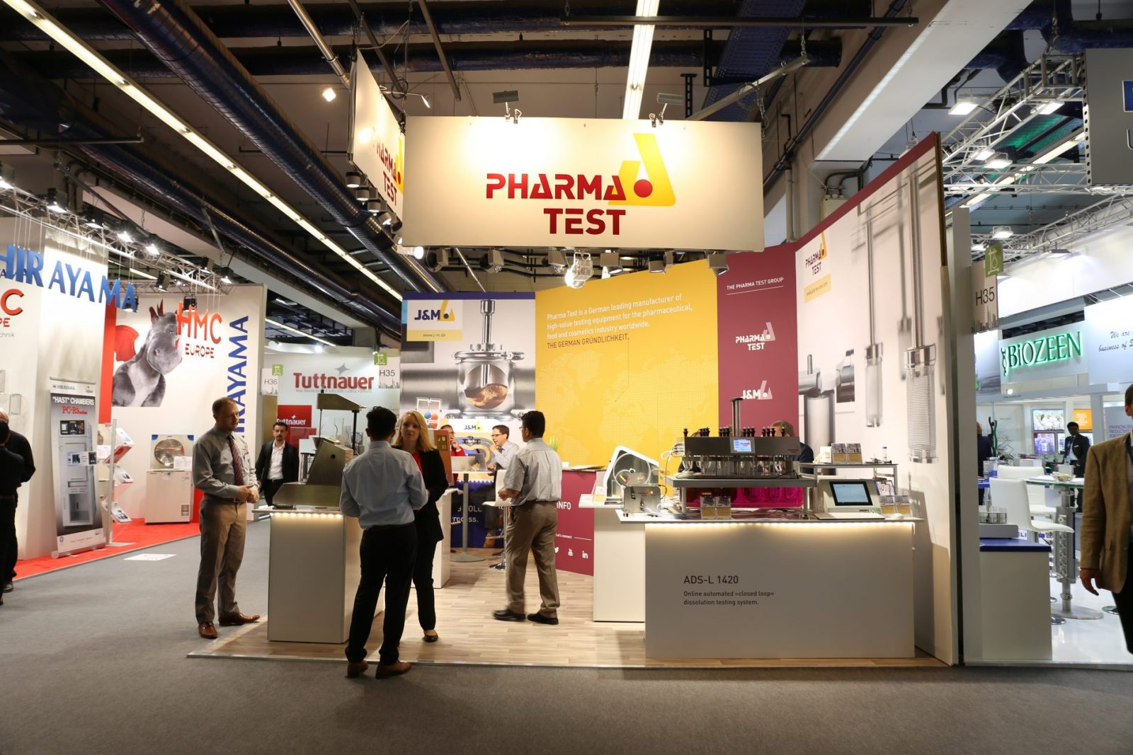 A calm before the storm moment on the new looking Pharma Test booth!