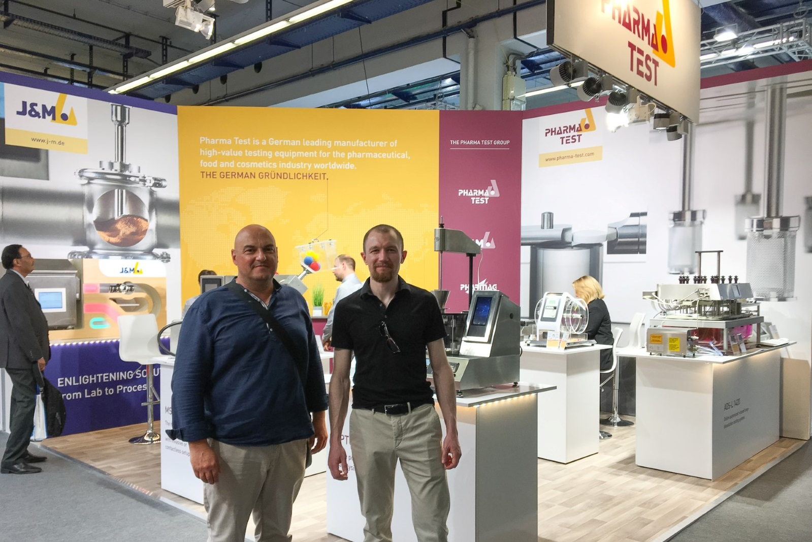 A lot of our various partners also came to visit the booth – like here ebene3 our longtime web developer.