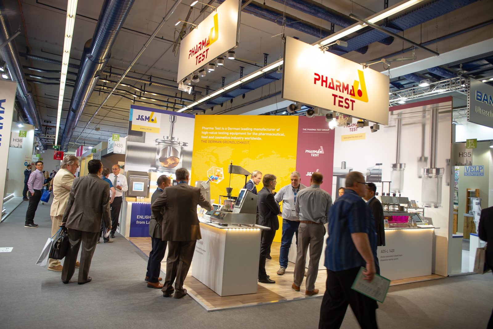 THE PHARMA TEST GROUP booth at ACHEMA 2018.