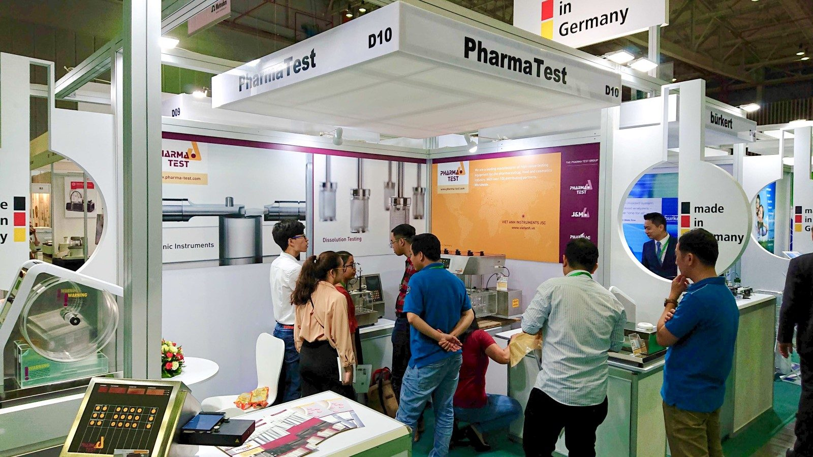 Impression at the Pharma Test booth