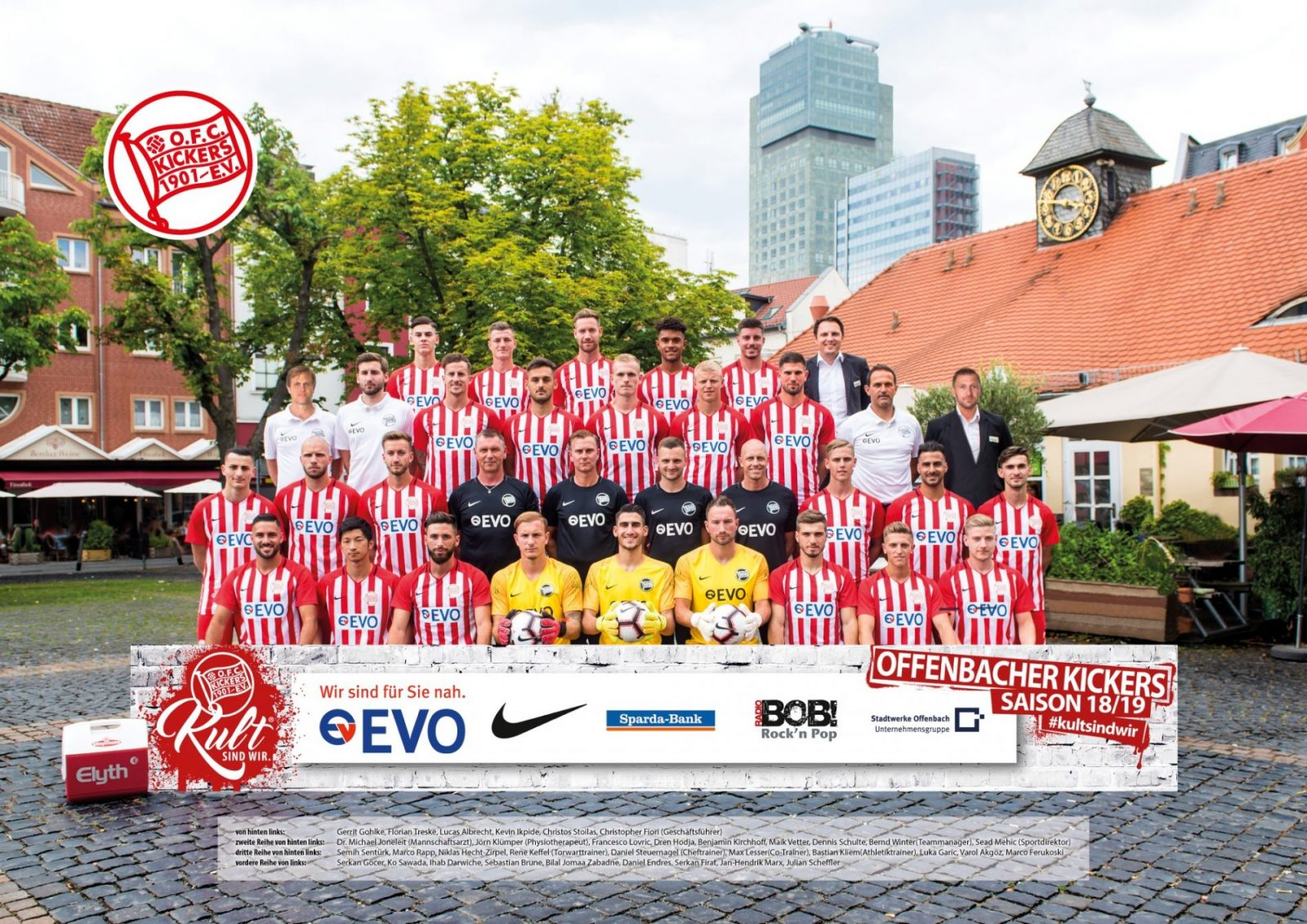 Team picture of OFC Offenbacher Kickers from season 2018/2019 (courtesy of © OFC Kickers 1901)