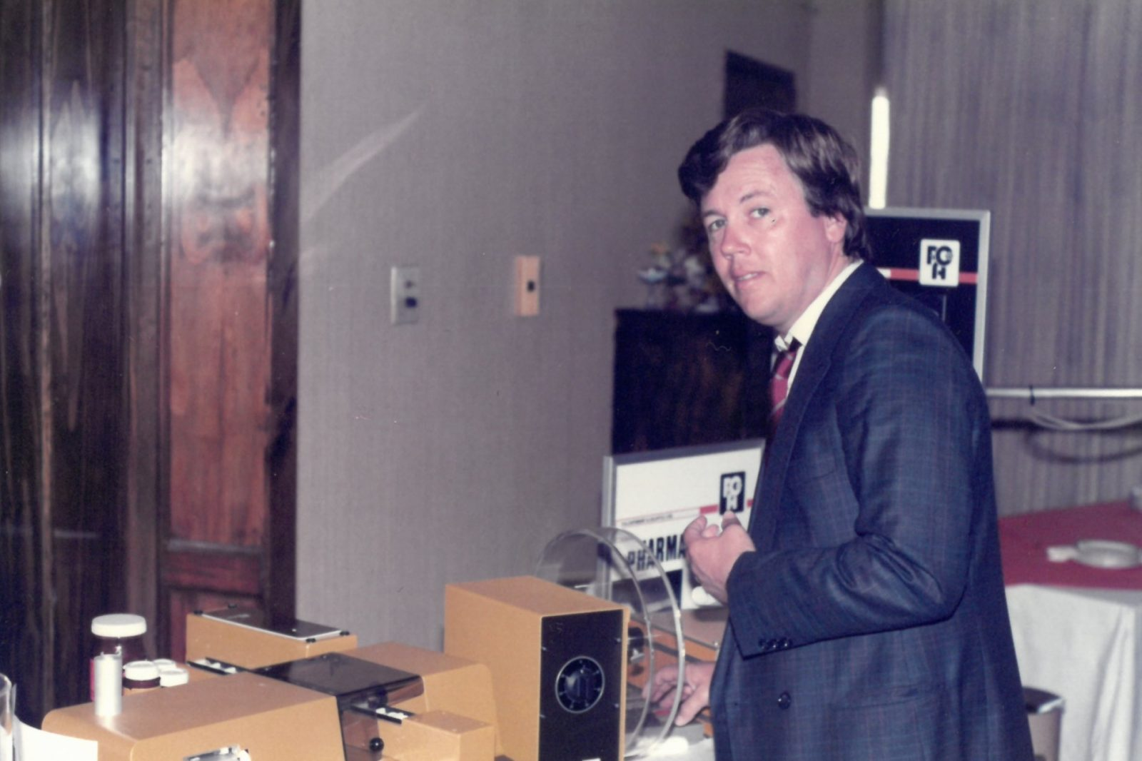 Franz J. Fähler at a product presentation in the early eighties