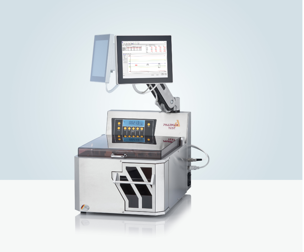 The WHT 4 fully automated 4-in-1 tablet testing instrument
