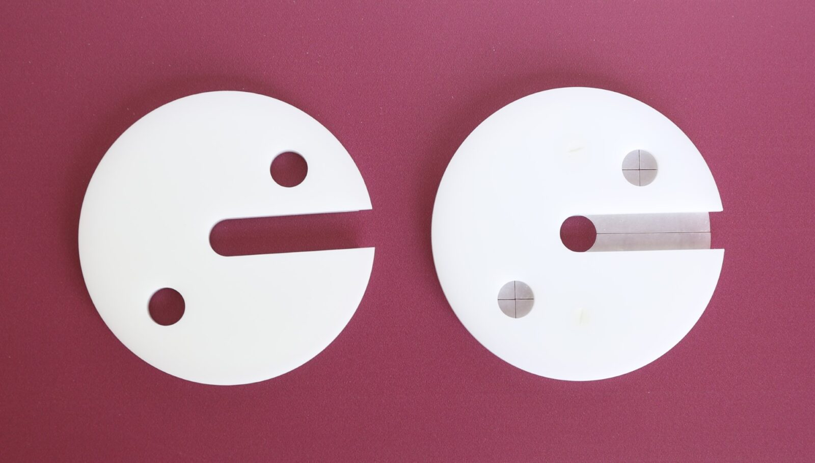 Old vs. new: On the left is the previous cover, on the right is the new vessel cover with silicone inserts to reduce evaporation – now included for all PTWS in the standard scope of supply